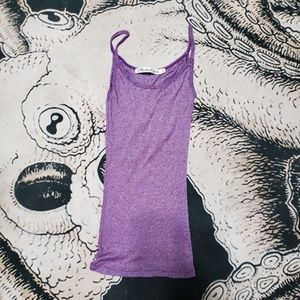Michael Stars purple stretchy scoop tank top OS